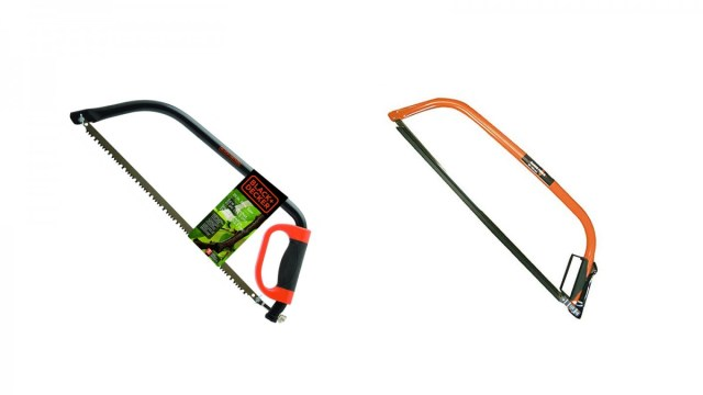 A Black & Decker bow saw and a Bahco bow saw.