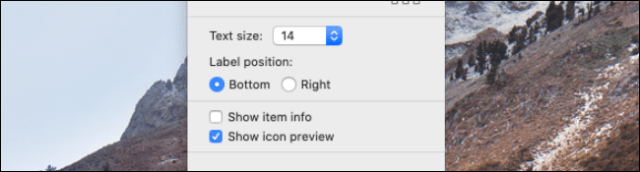 Change text size and other options