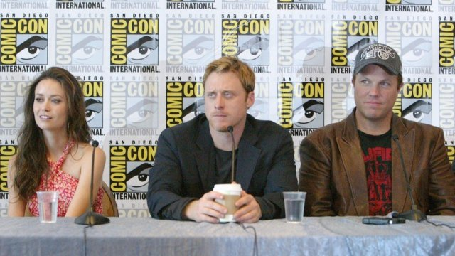 San Diego Comic-Con panel for the Firefly show with actors Summer Glau, Alan Tudyk and Adam Baldwin