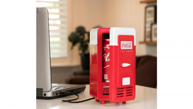 Koolatron Desktop Mini Refrigerator for a Single Can of Soda