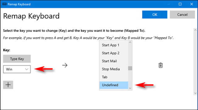 In PowerToys, select Win key and Unassigned in Keyboard Manager in Windows 10