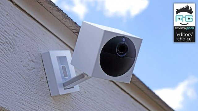 Wyze Cam Outdoor mounted on a wall