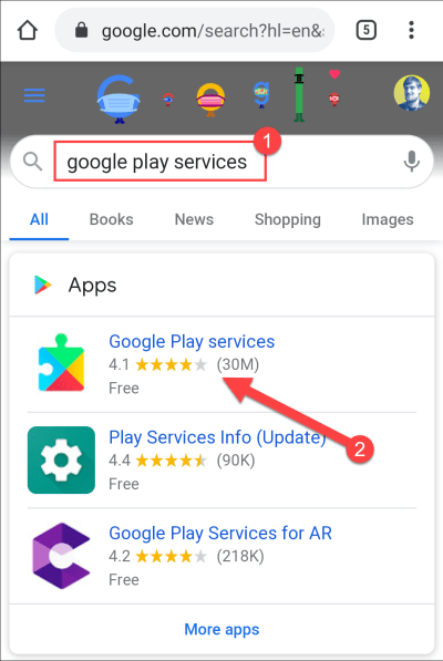 search for google play services