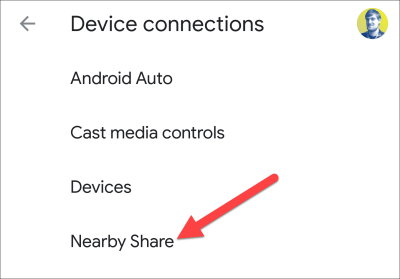 nearby device connections share
