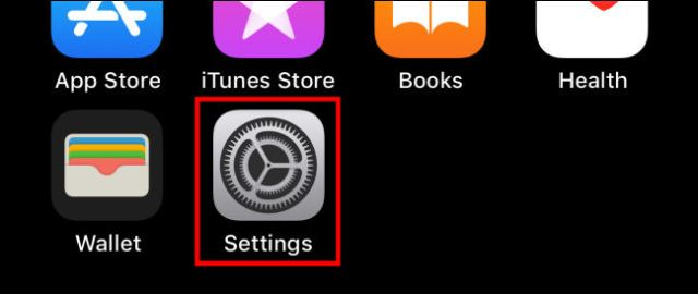 """Tap the """"Settings"""" icon on iPhone"""