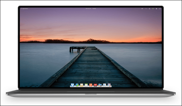 The Elementary OS Linux distribution on a laptop.