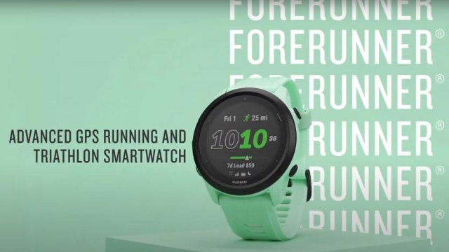 Garmin Forerunner 745 on mint green background