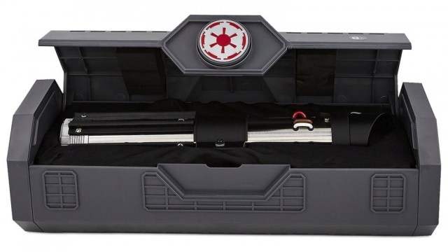A Darth Vader's saber in a carrying case.
