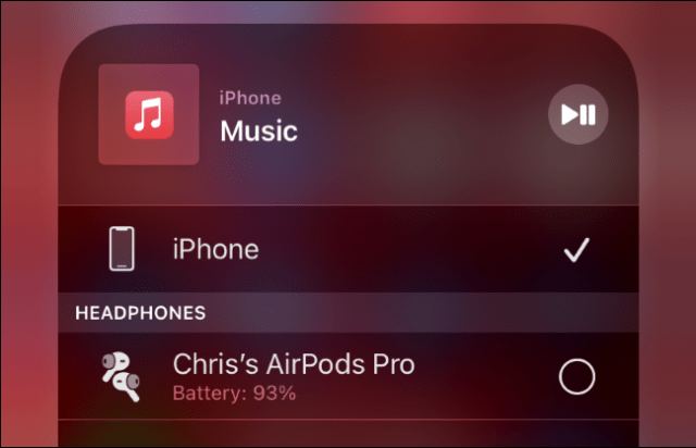 Connecting AirPods to an iPhone.