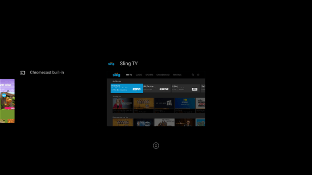 android tv app has been closed