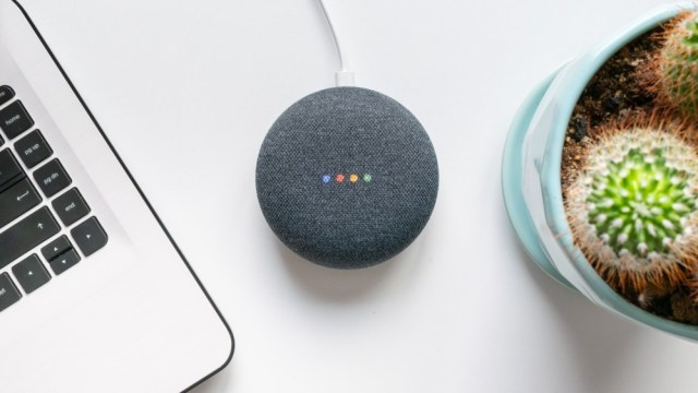 Google Home smart mini speaker with built-in Google Assistant
