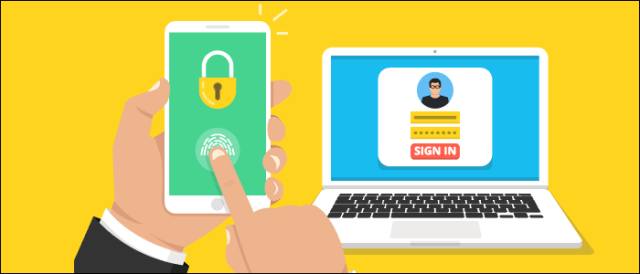 Two-factor authentication of the connection on a phone and a computer