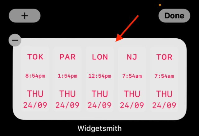 Tap a widget to edit it in Widgetsmith.