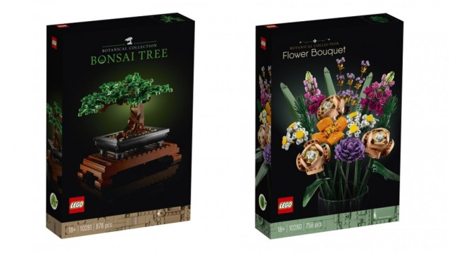 LEGO Bonsai and flower bouqet
