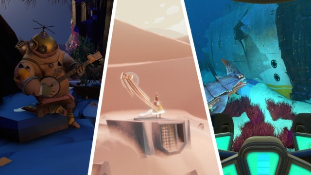 Screenshots of Outer Wilds, Journey and Subnautica