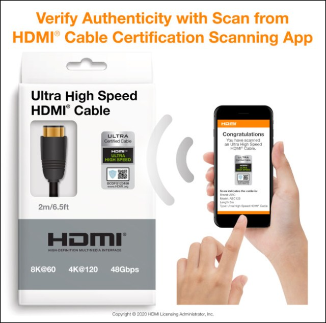 HDMI Cable Certification Scan App for iOS and Android