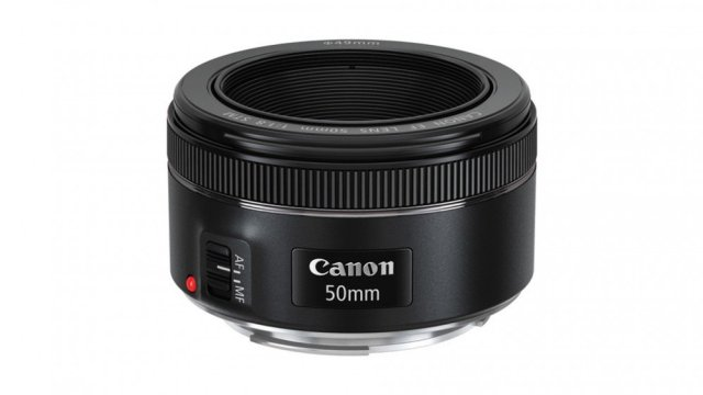 The Canon 50mm f/1.8 STM Lens.