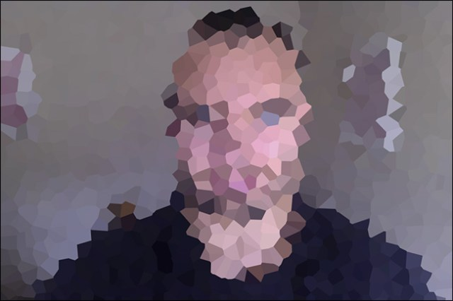 A pixelated image.