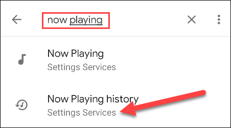 search current playing history