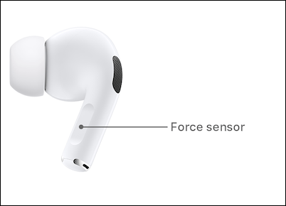Press and Hold AirPods Pro Force Sensor in Stem