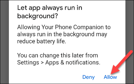 allow your phone to run in the background