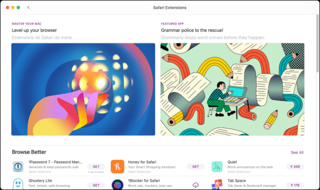 Safari Extensions in App Store Featured