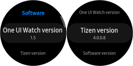 a user interface and information from tizen