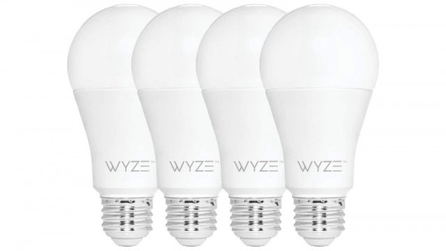 Four white tunable Wyze bulbs