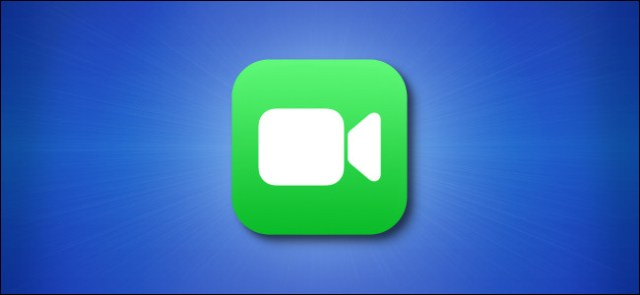 Facetime iOS icon on blue background