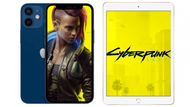 A photo of Cyberpunk 2077 on iPhone and iPad