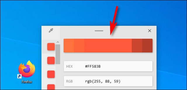 In the color picker, click the color bar to adjust the color values.