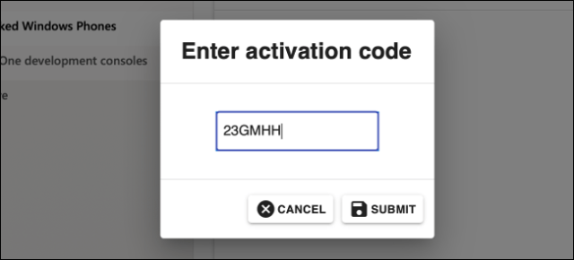 Enter the code in Microsoft Partner Center