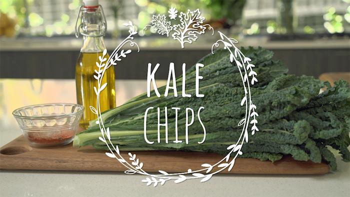 Green alternative to a potato chips