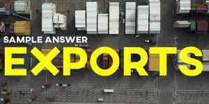 IELTS Task 1 Writing Exports