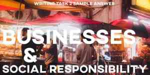 IELTS Essay Business Social Responsibility