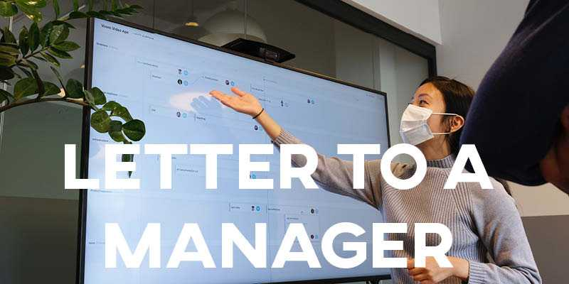 IELTS Essay: Letter to a Manager