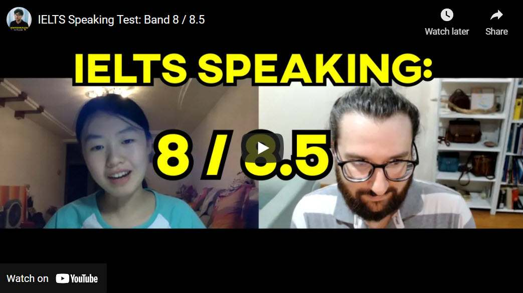 IELTS Speaking Sample Test: Band 8 / 8.5 (Relaxing, Car Trips, Handicrafts)