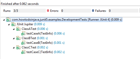 JUnit 5 @Tag Example - Development Tests