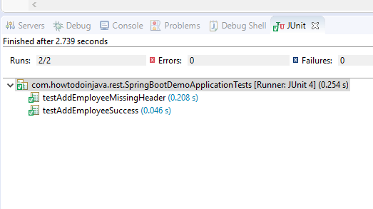 Spring Boot TestRestTemplate Result