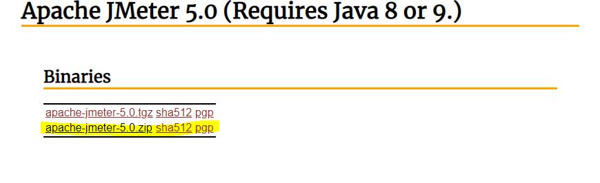 JMeter download links