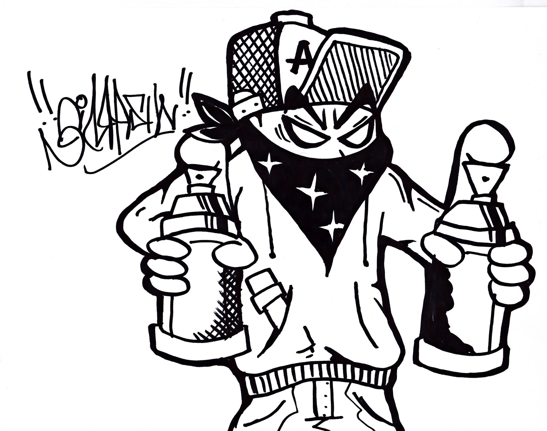 Draw Graffiti Character Easy Gangster Drawings Www Galleryneed Com