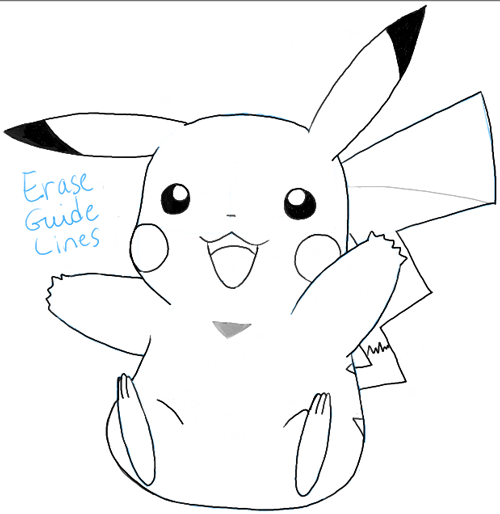 How to Draw Pikachu from Pokemon with Easy Steps Tutorial