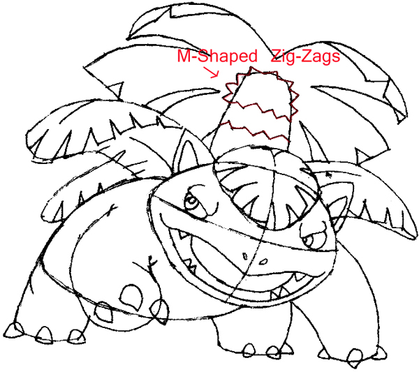 How to Draw Venusaur from Pokemon Step by Step Drawing