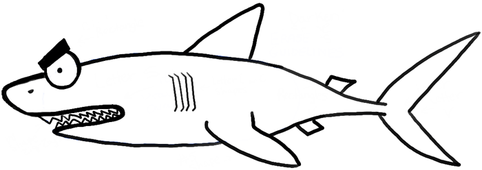 How to Draw a Cartoon Shark with Step by Step Drawing