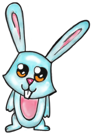 rabbit bunny cartoon easy drawing rabbits draw step drawings line clipartmag clipart getdrawings paintingvalley