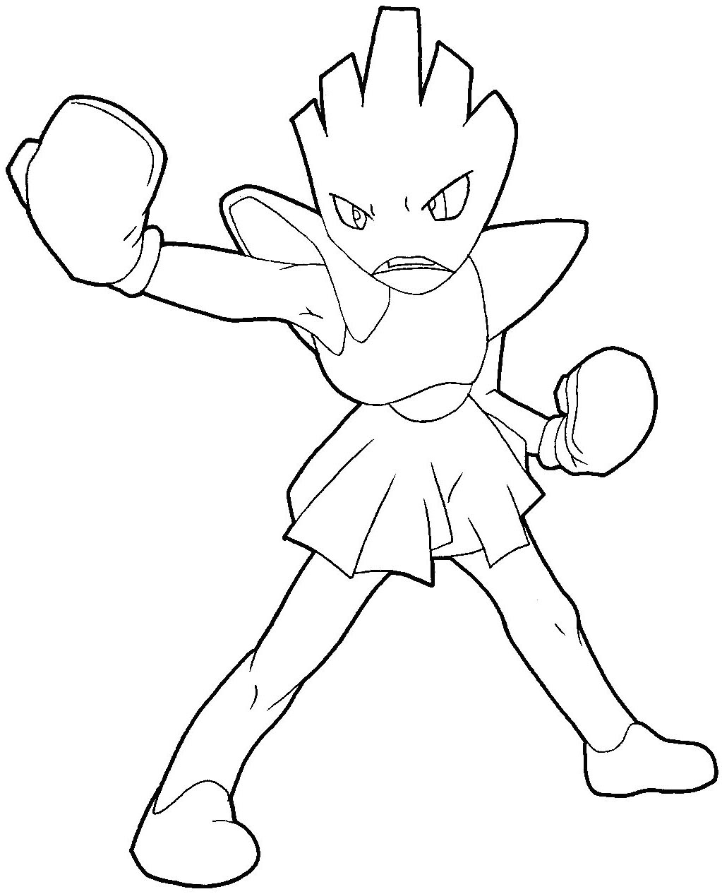 How to Draw Hitmonchan from Pokemon Step by Step Drawing