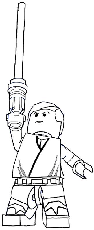 How to Draw Lego Luke Skywalker in Easy Steps Drawing