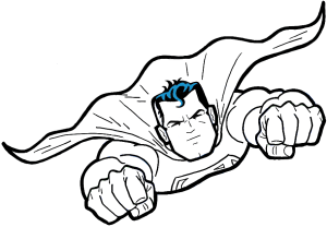 superman drawing outline superhero easy drawings dc draw comics step finished superheroes super flying tutorial cliparts comic hero characters cartoon