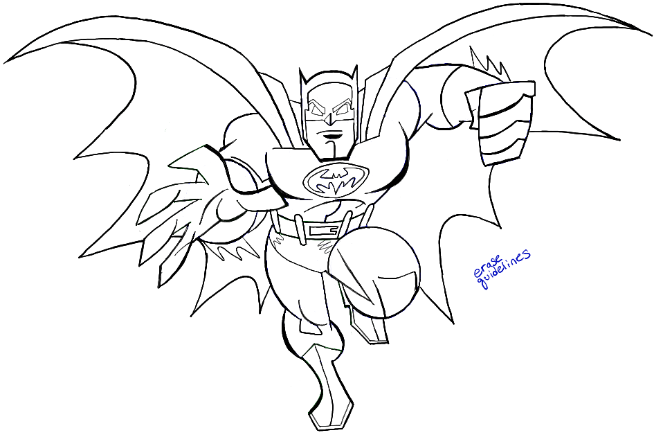 How to Draw Batman from DC Comics with Easy Step by Step