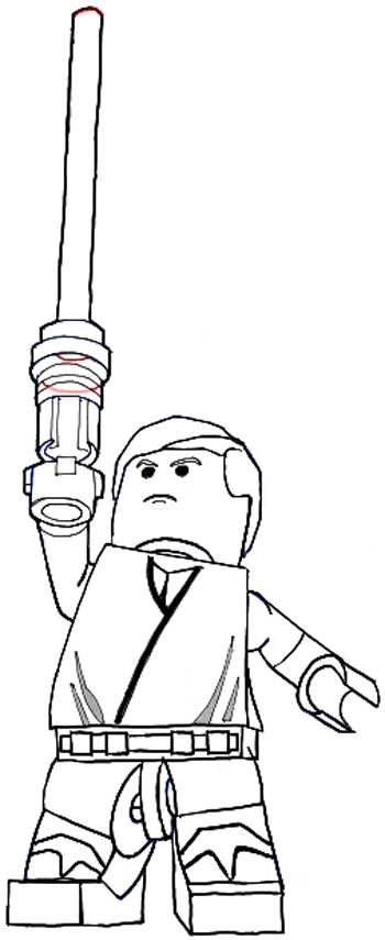 How to Draw Lego Luke Skywalker in Easy Steps Drawing